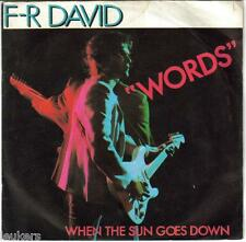 F.R. DAVID // WORDS / WHEN THE SUN GOES DOWN