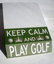 GIFT - SLANT PADBLOCK KEEP CALM AND PLAY GOLF - BAG TEES BALL CLUB CAP - NEW