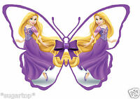 24 x Disney Princess RAPUNZEL Butterflies Edible Decorations Cup Cake Toppers