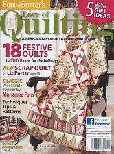 Fons and Porter's Love of Quilting Nov/Dec 2011 Scrap Quilt Table Topper Pattern