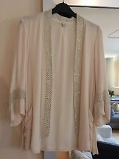 River Island Cream Sequin Jacket Kimono Beach Cover Up Size 6/8/10