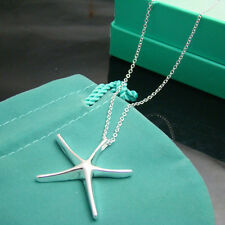 Wholesale 925 sterling silver filled starfish pendant necklace fashion jewelry
