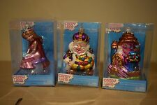 LOT OF 3 CANDYLAND HASBRO KURT ADLER HAND CRAFTED CHRISTMAS GLASS ORNAMENTS 2008