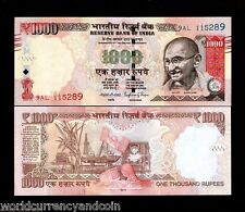INDIA 1000 RUPEES NEW SYMBOL 2015-2016 GANDHI OIL RIG UNC CURRENCY MONEY 1 NOTE