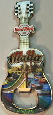 Hard Rock Cafe MALTA 2012 Guitar MAGNET Bottle Opener V12 Acoustic w/ City Icons