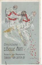 A7164) TORINO, ESPOSIZIONE DI BELLE ARTI. ILLUSTRATORE OMEGNA. VIAGGIATA 1912.