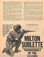 Milton Sublette Thunderbolt of the Rockies