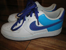 Nike Air Force 1 '07 Size 10 Style #315122-151 White Purple & Laser Blue