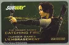 Subway Canada THE HUNGER GAMES collectible gift card (no cash value) French/Eng