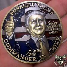 "45TH PRESIDENT DONALD J.TRUMP  COMMANDER IN CHIEF MAGA  2"" CHALLENGE COIN"
