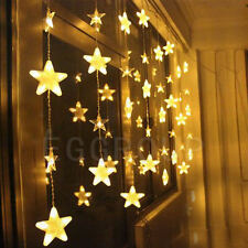 Warm White 2.5M 136 LED Star Fairy String Light Lamp Xmas Party Decor Outdoor
