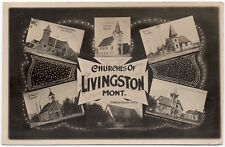 Real Photo Postcard Churches of Livingston, Montana~106637