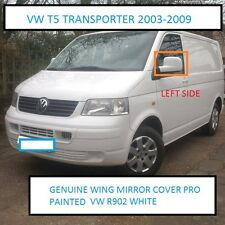 GENUINE VW TRANSPORTER 03 TO 09 WING MIRROR COVER L/H SIDE PAINTED VW R902 WHITE