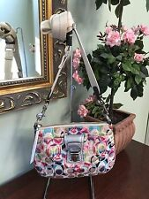 Coach Bag Poppy Ikat Signature Multi Color Cross Body  #47905 B7