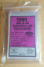 MTL Card Sleeves THICK USA: Size 56x87 50 PCS Bruges, Village, Munchkin, Concept