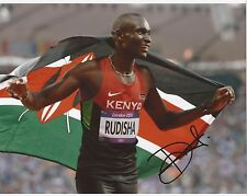 ATHLETICS: DAVID RUDISHA SIGNED 10x8 LONDON 2012 PHOTO+COA *RIO 2016* *PROOF*