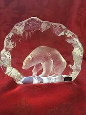 FLAWLESS Exceptional Ice Sculpture MATS JONASSON Crystal POLAR BEAR In Ice Cave