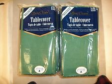 """1 LOT (24 EACH) SPECIAL OCCASION BANQUET TABLE COVERS (54"""" X 108"""") HUNTER GREEN"""