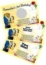 BEAUTY & THE BEAST BELLE SCRATCH OFF OFFS PARTY GAME CARDS BIRTHDAY GAMES FAVORS