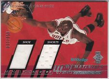 2000-01 UPPER DECK MJ MATERIALS #MJ5: MICHAEL JORDAN #59/100 DUAL SHORTS/SHOE
