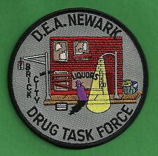DEA NEWARK NEW JERSEY DRUG ENFORCEMENT TASK FORCE POLICE PATCH