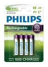 4x Batteria AAA Micro Philips rechargeable 950 mAh micro-batteria hr03 4er BLISTER