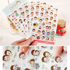 6 Sheets Cute Momoi Scrapbooking Memo Stickers Diary Book Sticker Decoration Set