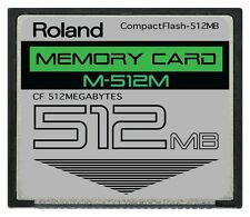 512MB Roland CF Card for Sampler, Drum Pad, Keyboard and Midi Recorder SPD-S SPD