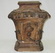 RARE ANTIQUE FRENCH 18c ORNATE CARVED WOOD TABERNACLE