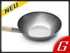 35 cm chinesische Stahl Wokpfanne Wok Stahpfanne Asia Pfanne Bratpfanne Gastro