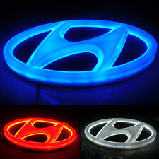4D Car LED Real Logo Light Auto Badge Emblems For HYUNDAI SANTAFE GENESIS COUPE