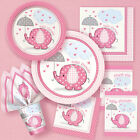 Baby Girl UMBRELLAPHANTS- Baby Shower Party Supplies,Tableware,Games,Decorations