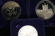 Three (3) Tower Mint Solid Nickel Silver Medals - Beautiful Proof Coins!!!