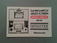NINTENDO GAME&WATCH MULTISCREEN DONKEY KONG II DK-52 ORIGINAL MANUAL NEAR MINT