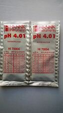 2  X HANNA PH METER BUFFER CALIBRATION SOLUTION SACHETS  HI 70004  4.01 pH