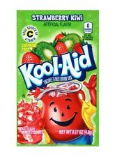10 Packs Kool-Aid STRAWBERRY KIWI Unsweetened Drink Mix Packets