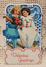 VINTAGE EARLY 20th CENTURY VALENTINE GREETING CARD - VALENTINE GREETINGS