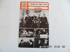 CARTE FICHE CINEMA 1932 L'AFFAIRE EST DANS LE SAC Lora Hays Jean Paul Dreyfus