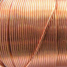 Bead Smith Copper Base Metal Wrapping Craft Wire 22 Gauge 60 ft. Spool (1)