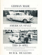 1960 Opel Rekord Sedan and Wagon - Original Car Advertisement Print Ad J254