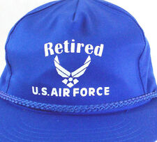 Retired U.S. Air Force Snapback Blue Hat Cap One Size MADE IN THE USA