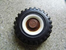 Vintage White Wall Plastic Toy Tire  - Parts or Restoration