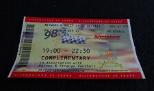 Silverstone 50th Anniversary car Rally used ticket