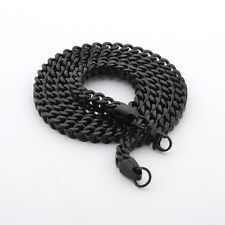 MODOU Cool mens black Stainless Steel necklace fashion Byzantine Chain Jewellery
