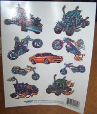 Lot of 25 Sheets Temporary Tattoos Chopper Hot Rods Big Rig Party Favors