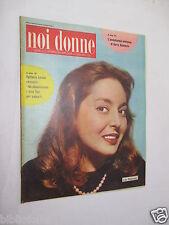 NOI DONNE Rivista n. 2 / 1958 - Lea Padovani Harry Belafonte Nunzio Gallo