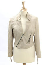 Muubaa Womens Buttermilk Leather Jacket Size 10 - few small marks to back
