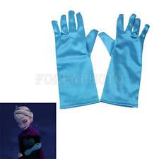Eiskönigin Mädchen Frozen Elsa Kleid Kostüm Krone Handschuhe Karneval Party
