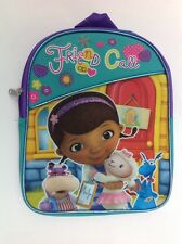 "Backpack 11"" Disney Doc McStuffin Friends On Call Aqua Green Purple New"