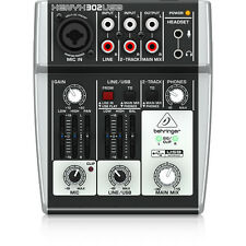 Behringer XENYX 302USB 5-Input Compact Mixer Home Project Studio USB Interface